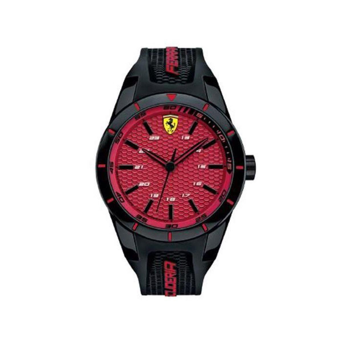 nouveau concept 02e02 82792 Scuderia Ferrari Orologi - 0830248 - Montre Homme - Quartz - Analogique -  Bracelet Silicone noir