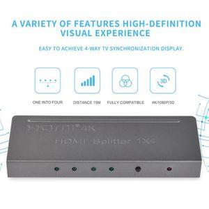 REPARTITEUR TV Splitter HDMI Répartiteur 4Ports 1x4 1 Entrée 4 So