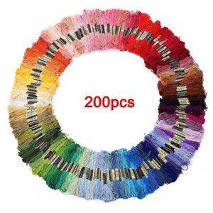 250pcs échevettes fil DIY bracelet brésilien broderie point de croix multicolore