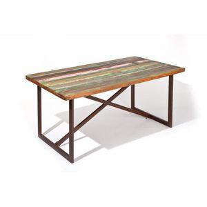 TABLE A MANGER SEULE Table de salle à manger 160 cm en bois massif styl