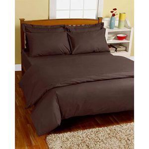 housse de couette 220x240 chocolat achat vente housse de couette 220x240 chocolat pas cher. Black Bedroom Furniture Sets. Home Design Ideas