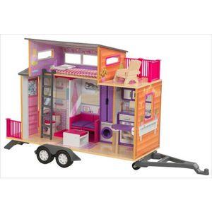 MAISON POUPÉE Maison de poupée roulotte Tiny house sur remorque