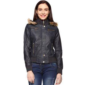 BLOUSON - VESTE Faux Veste en cuir pour femme GVPKB Taille-40