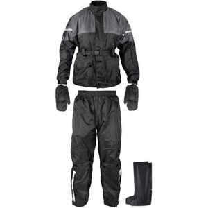 SLIDER Anti Pluie Combinaison Kit Blouson Pantalon Gants