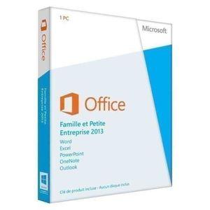 LOGICIEL BUREAUTIQUE  Office Famille et Petite Entreprise 2013 - 1 PC