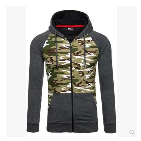 Hooded Slim Impression Rond Col Veste Hiver Couleur Conception Hommes Camouflage Yqw6xFC5n7