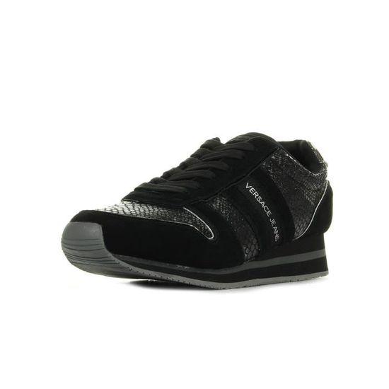 Baskets Versace Linea Stella Dis B1 Noir Noir, argent - Achat / Vente basket