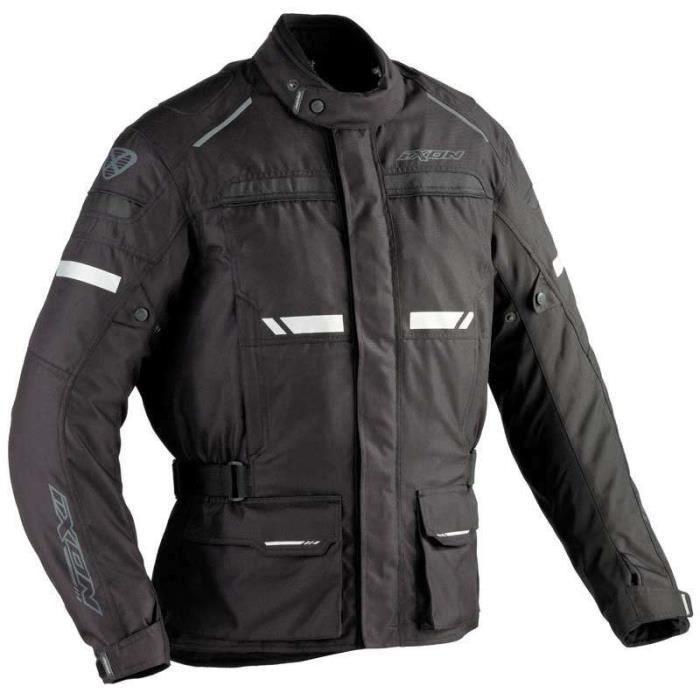 IXON Blouson Moto Tissu Fjord Noir
