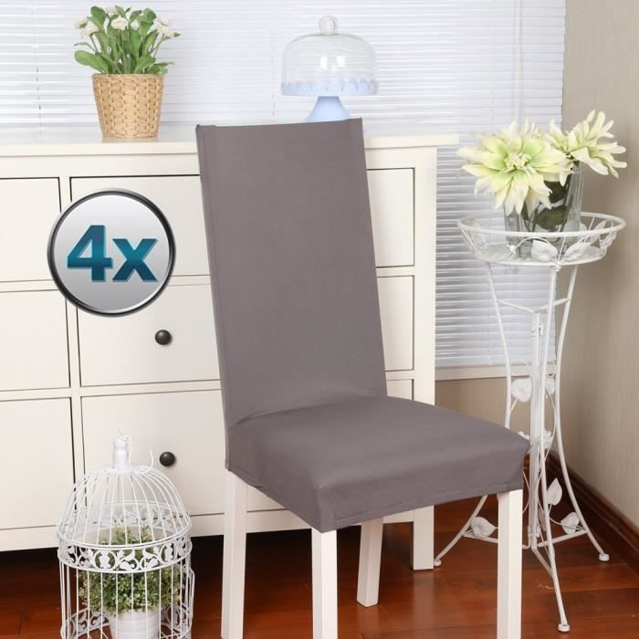 housse de chaise extensible achat vente housse de chaise extensible pas cher cdiscount. Black Bedroom Furniture Sets. Home Design Ideas