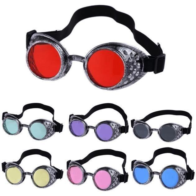 1 PC Vintage Steampunk Goggles co bleu bleusplay Welding Punk gothique drôle verre Casual populaire