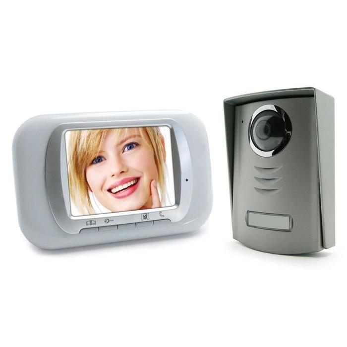 avidsen bulla interphone vidéo couleur 2 fils 3.5 pouces - achat