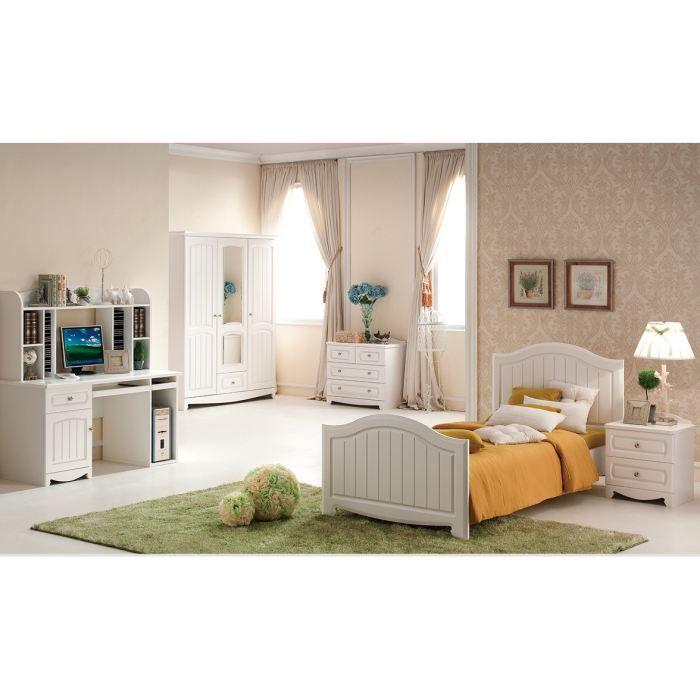 Bureau chambre enfant Houston - blanc - Achat / Vente structure de ...