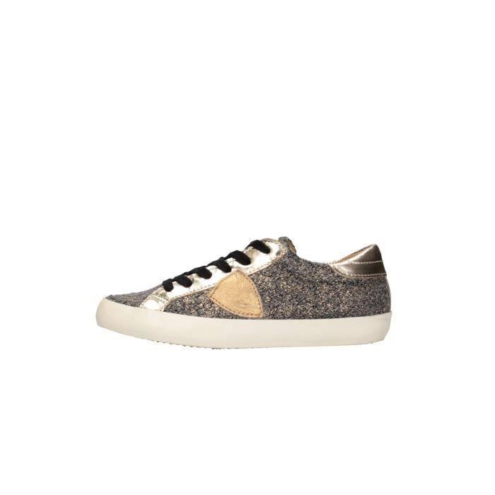 Sneaker Femme Pas cher en Soldes, Noir, Cuir, 2017, 36Philippe Model