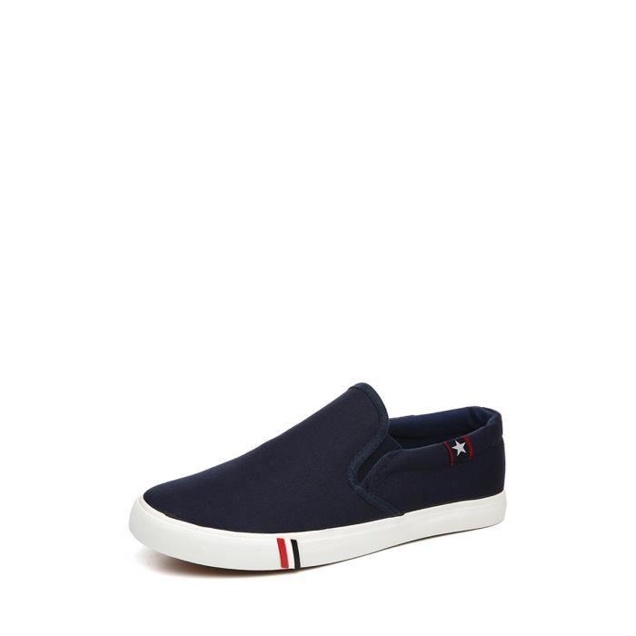 Slip-Ons solide Couleur classique élégant Trendy Comfy Chaussures pour hommes 5203912 GMEsGjT