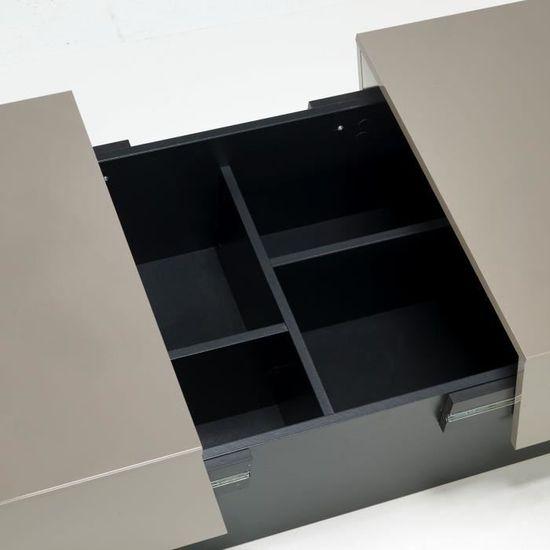 Avec Intégré Pero Basse Achat Pour Bar Taupe Table Rangement RS4L5jqAc3