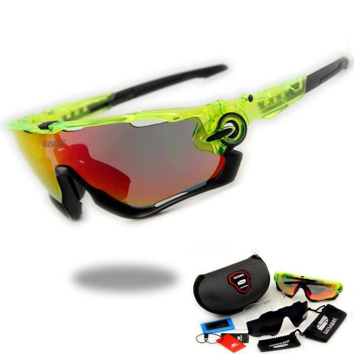 120009f3a7e4d0 Cyclisme Lunettes 3 Lens Polarisée UV Protection Les Sports Vélo LUNETTES  DE SOLEIL