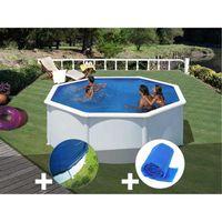 PISCINE Kit piscine acier blanc Gré Fidji ronde 3,20 x 1,2