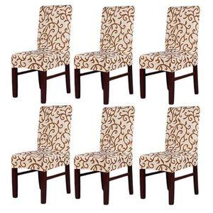 HOUSSE DE FAUTEUIL 6 x Housse de Chaise Antifouling Anti-sale et élas