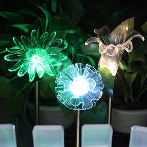 Jardin Fleur Forme DEL à énergie Solaire Lumières Extérieure Debout ...