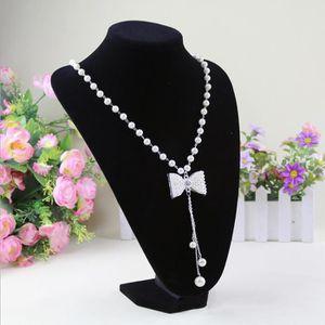 Présentoir bijoux 22 * 15cm Portrait PVC velours Collier Porte-Prése
