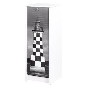 MEUBLE CLASSEMENT Classeur à rideau 37,8 cm - Blanc imprimé Phare Br