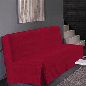 HOUSSE DE CANAPE Housse de clic clac Marie - Rouge - 120 à 1cm et 1