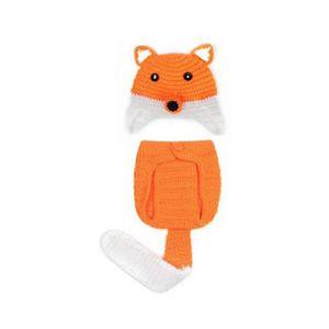 e3f22d956f1 BONNET - CAGOULE Mignon infantile Fox Baby Style du nouveau-né à la