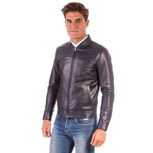 Blouson homme cuir - Achat   Vente Blouson homme cuir pas cher ... aa207081d8a3