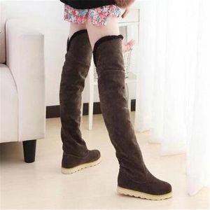 BOTTE bottes femmes Chaud Longue baril de chaussure Femm