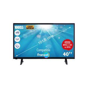 Téléviseur LED TELEFUNKEN TV LED Full HD 1080p 101,6 cm - décodeu