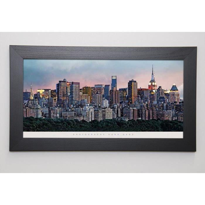 GANS Image encadrée New York Skyline 29,7x57 cm Multicolore