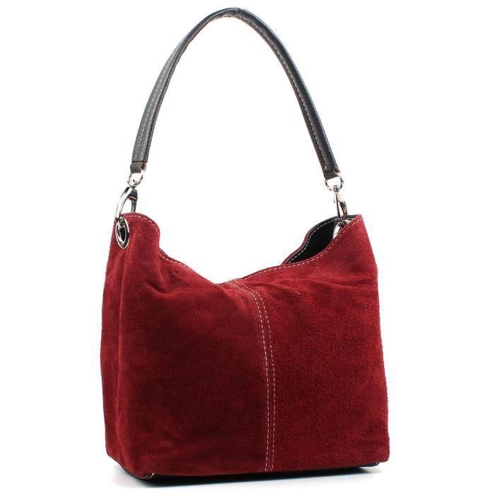 Mesdames Real Italian Suede en cuir Grand sac à main épaule sac fourre-tout MRLLI