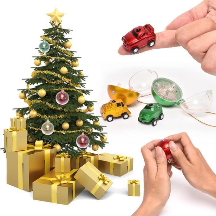 Mini boule de no l t l commande de voiture kid toy cadeaux 4 batteries rouges no l ha8338 for Tele achat projecteur noel