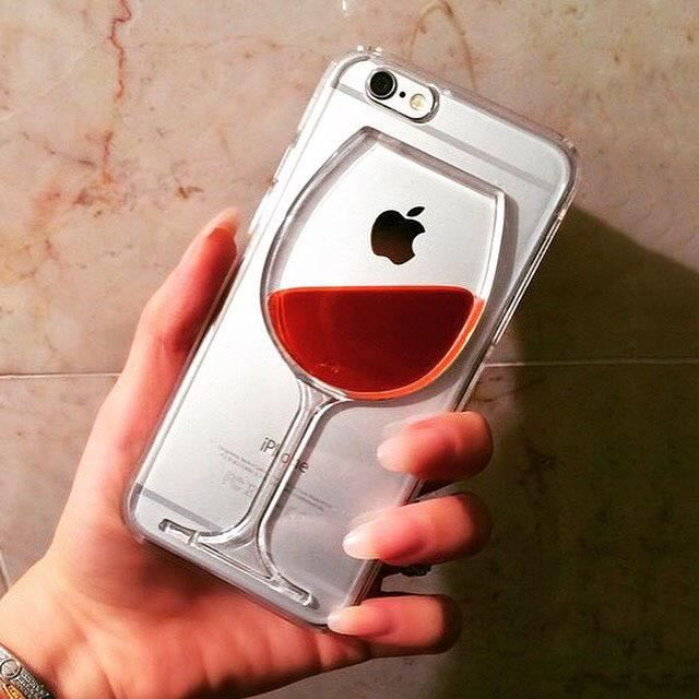 Coque verre de vin pour iPhone
