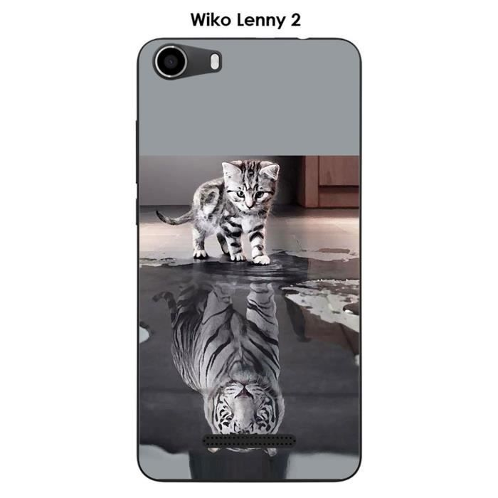 Coque wiko lenny 2 chat achat vente coque wiko lenny 2 for Coque portefeuille wiko lenny 2