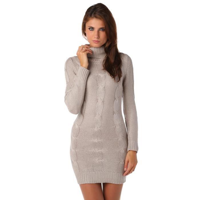 09cc125c05fe Robe pull col roule femme pas cher – Modèles populaires de robes