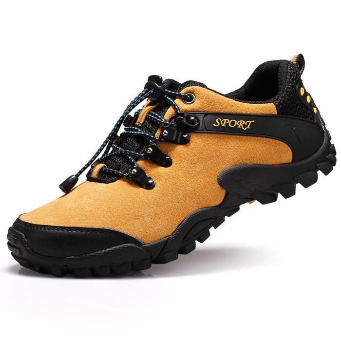 Hommes chaussures de sport de plein air respirant antidérapant chaussures de randonnée résistant à l'usure RaCWfE