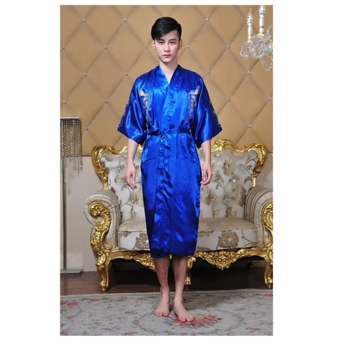 93a8a2c8b2c GLAM® Robe de soie satinée chinoise traditionnelle chinoise brodée ...