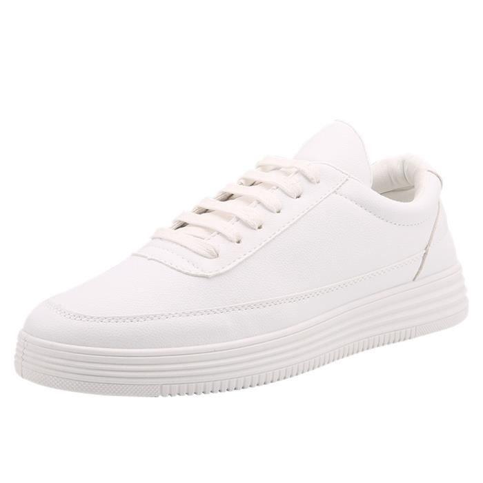 Homme Sneaker Durable Nouvelle arrivee Chaussure 2017 Haut qualité Respirant Sneakers Augmenter la taille blanc 39-44 OzZIs6D5
