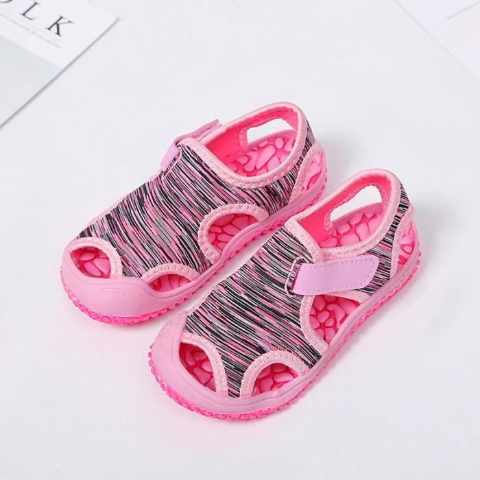 ad918ab8ed0c4 Enfant Sandales Bébé Fille Garçon Mode Plage Chaussures pour enfants ...