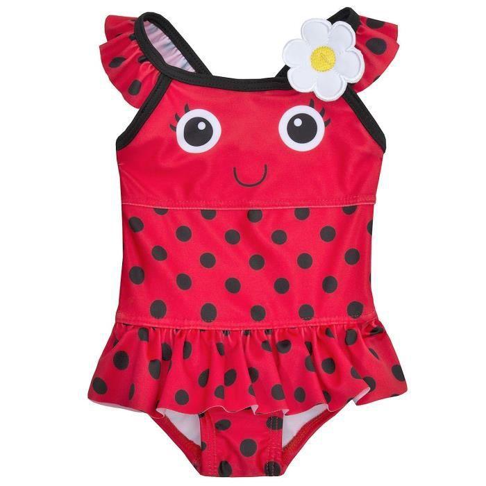 ebb3adadbcd37 Maillot de bain bébé fille COCCINELLE 3-24 mois Rouge rouge - Achat ...