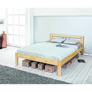 lit 140x190 achat vente lit 140x190 pas cher cdiscount. Black Bedroom Furniture Sets. Home Design Ideas