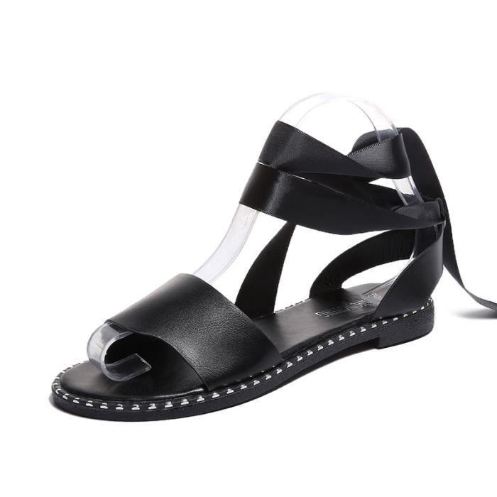 Tudiant Bout femme Croises T Mode Sandale Plat Ouvert Bretelles O87BWWxFq