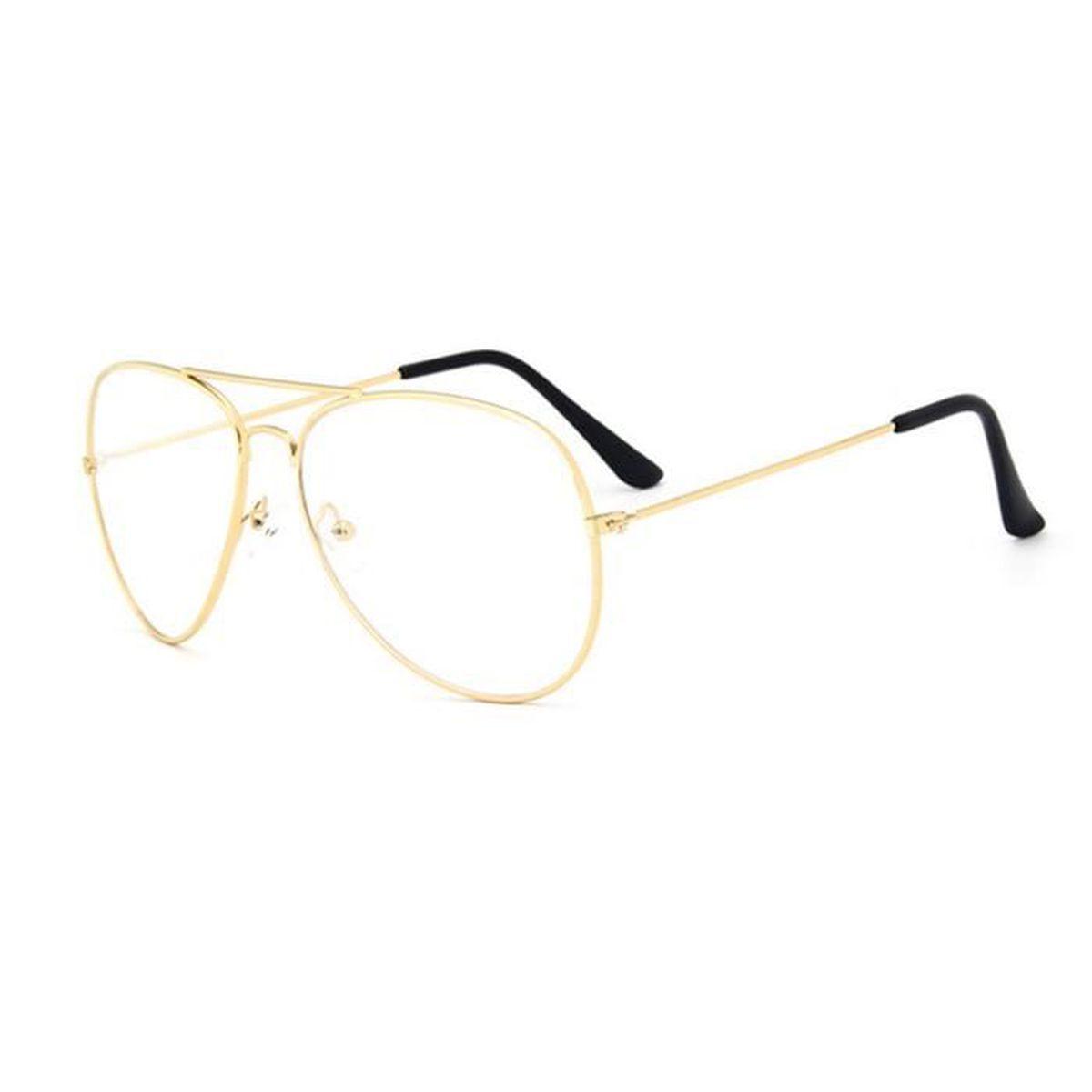 monture lunette de vue pilote loupe l ger myopie presbyte optique elev femme or achat vente. Black Bedroom Furniture Sets. Home Design Ideas