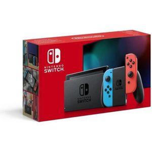CONSOLE NINTENDO SWITCH Console Nintendo Switch avec un Joy-Con bleu néon