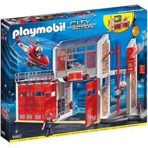 FIGURINE - PERSONNAGE PLAYMOBIL 9462 - City Action - Caserne de pompiers