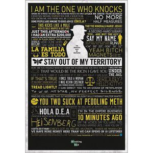 AFFICHE - POSTER Poster Breaking Bad Citations + 1 Powerstrips©, te