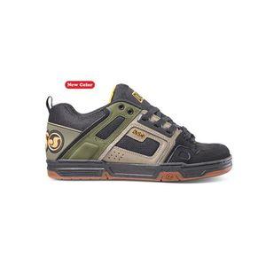 SKATESHOES Chaussure DVS Comanche Brindle Vert Foncé Leather
