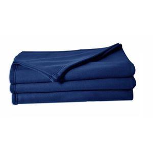 COUVERTURE - PLAID POLUNO Couverture maille polaire 180x220 cm bleu
