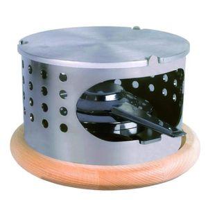 RÉCHAUD - FOUR - BARBECUE - PLANCHA Réchaud à fondue en acier-alum. 16,2 x 11 cm